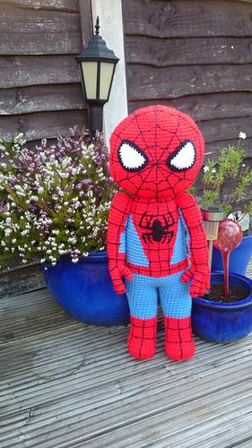Free Amigurumi Spiderman Pattern : Ravelry: Arachnid Buddy - Kid Hero pattern by Mary Smith