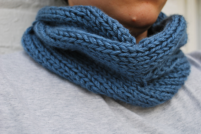 Quick Knitted Cabled Cowl by A Crafty House
