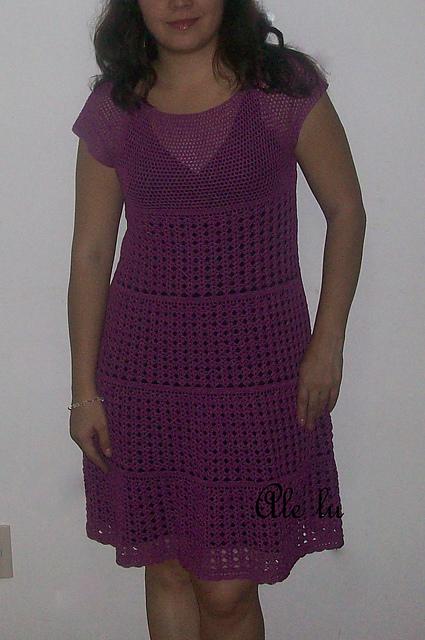 Puntadas a crochet vestidos para niña - Imagui
