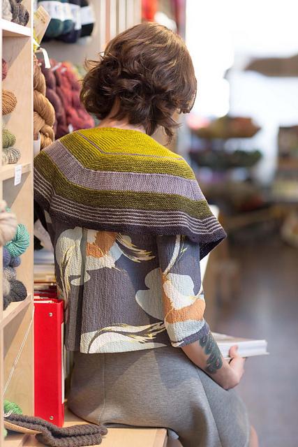 配色披肩 - 织若可 - 织若可的博客