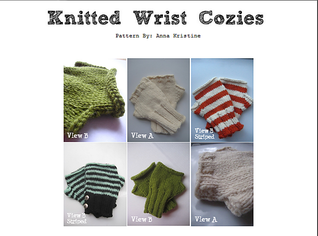 Knitted Wrist Cozies