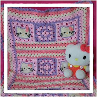Ravelry: Hello Kitty Baby Blanket pattern by CreativeCrochetWorkshop