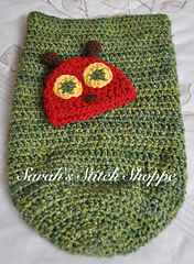Hungry Caterpillar Baby Cocoon and Hat Knitting Pattern in