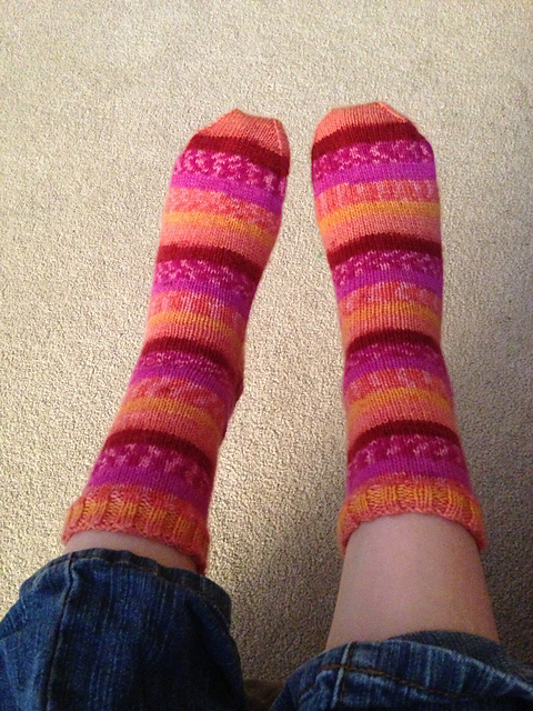 A pair of socks each month