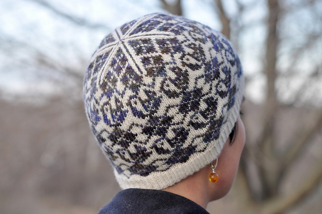 Tuque tricotée Argyle Birds Hat par Sara Huntington Burch