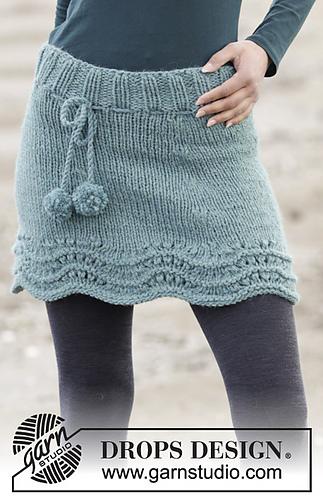Knitted Skirt Pattern Free : Ravelry: 164-37 Sea Foam pattern by DROPS design