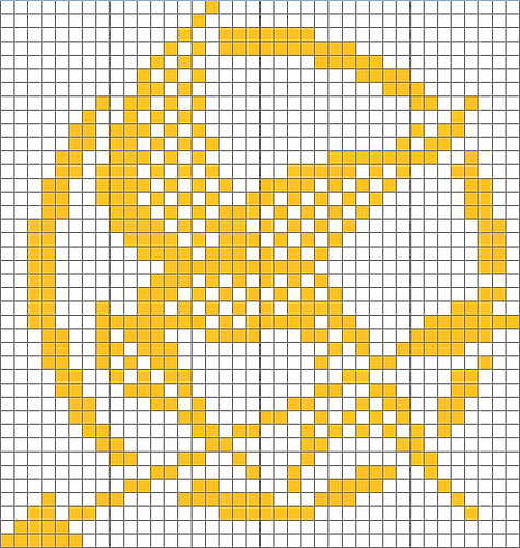No Stitch On Knitting Chart : Knitobsessed Forever: Hunger Games Knitting Charts