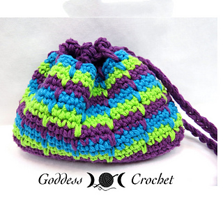 Free Crochet Patterns For Makeup Bags : Ravelry: Spike Stitch Makeup Bag pattern by Goddess Crochet