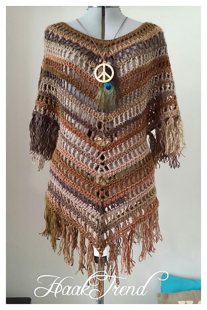 Boho Crochet Patterns : Boho Tunic -free crochet pattern-