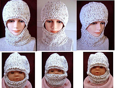 Knitting Pattern Of Baby Balaclava : Ravelry: 597 KNITTED BALACLAVA, baby to adult pattern by ...