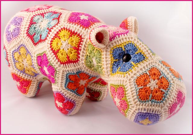 Free Crochet Hexagon Hippo Pattern : Blij dat ik brei: Nijlpaard