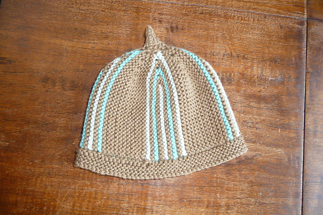 Striped Baby Beanie by Tonya Raworth