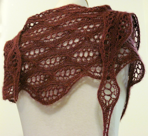 Shallow Sideways Tri Shawl Pdf At Fiberwild Com Knitting Yarns