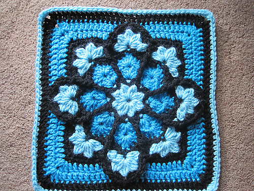 stained glass afghan square block 12 inch free crochet pattern beautiful