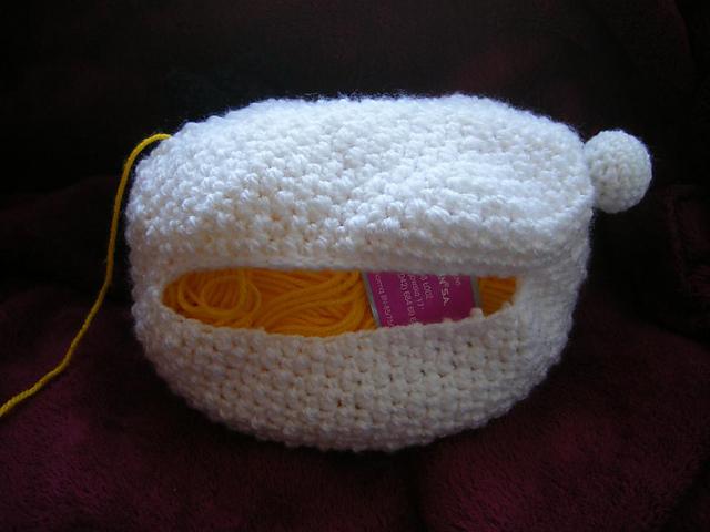 crochet sheep yarn holder