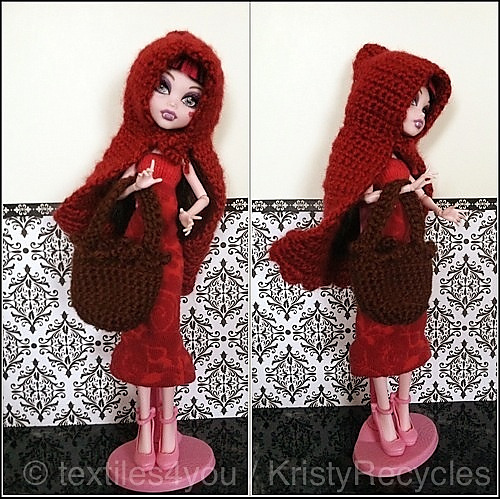 Crochet Doll Cape Pattern : Textiles4you: February Doll Fashion Show