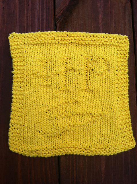 Textiles4you: Golden Snitch Dishcloth