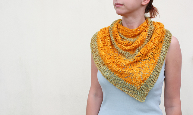 Kyra shawl knitting pattern