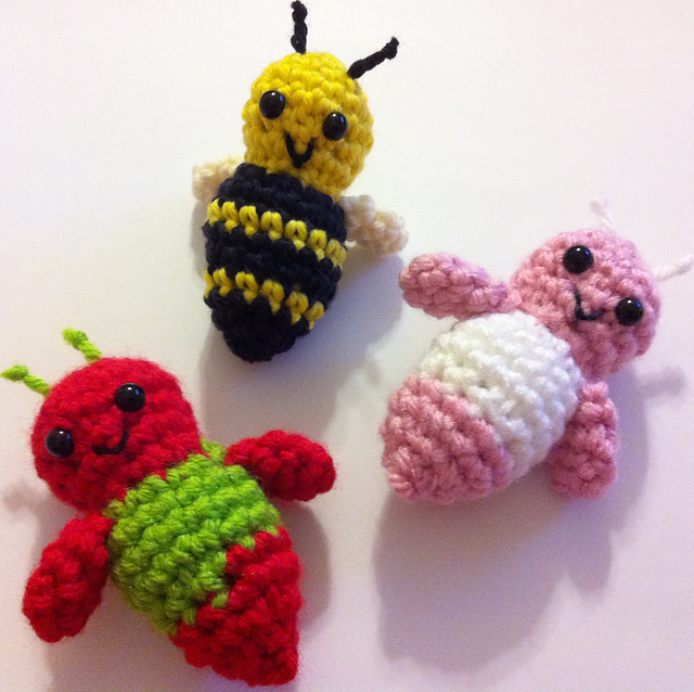 Lucille the Pocket Bug free crochet pattern download toy bee ladybug kids
