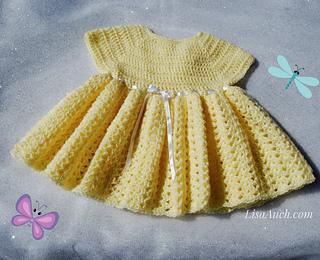 Free Baby Crochet Pattern Dress And Bolero : Ravelry: Easy Baby Dress Crochet Pattern pattern by LisaAuch