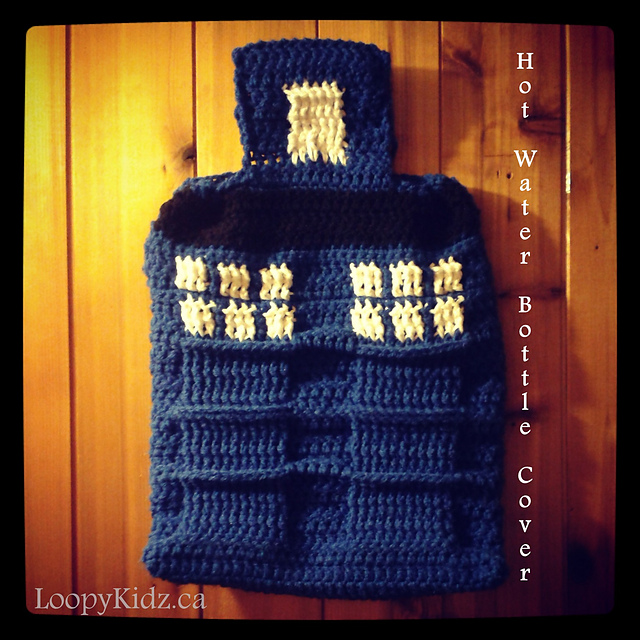 Tardis Inspired Hot Water Bottle Cover