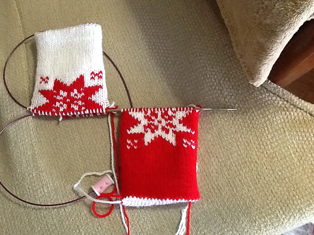 Double Knitting Mittens
