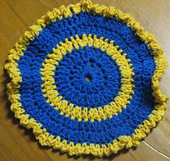 Circular Face Cloth Dishcloth Washcloth Free Crochet Pattern