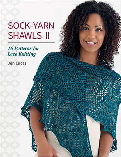 picture of a POC wearing a lace shawl on cover of book by Jen Lucas