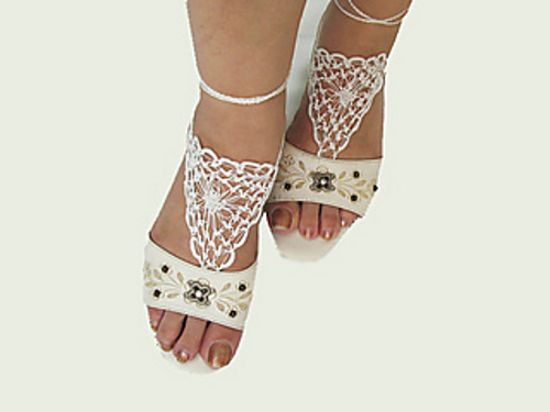 Knitted Barefoot Sandals Pattern Image collections - handicraft ...