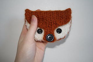 Felted fox coin purse by owlprintpanda.blogspot.co.uk