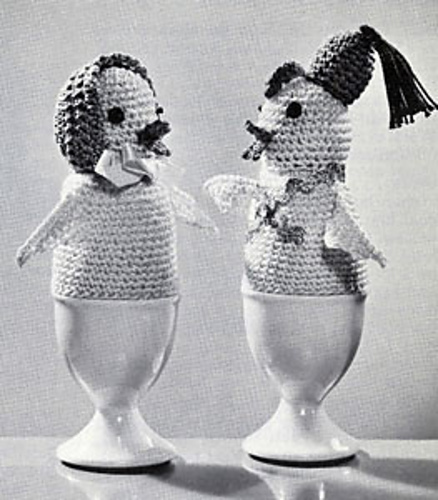 Crochet Cock-a-Doodle Egg Warmers