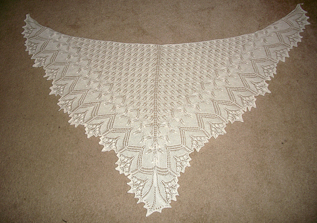 Wedding Knitting Patterns : Bad Cats, Good Knits: Aeolian Wedding Shawl