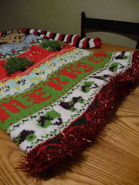 Ugly Christmas Jumper Knitting Pattern : Ugly Christmas Sweater Dress - KNITTING