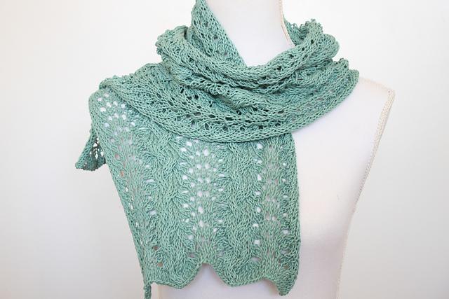 Super Blij dat ik brei: Kanten sjaal &FZ46