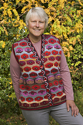 Ravelry Persian Poppy Waistcoat Pattern By Kaffe Fassett