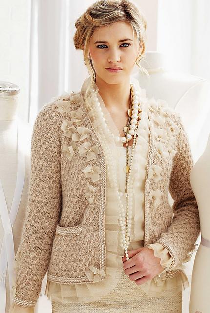 Embellished  Cardigan-送给妈妈的开衫 - Tina - Tina的手工编织的博客
