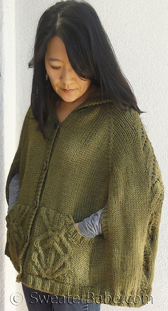 Cable Cape Knitting Pattern : Winding Yarn