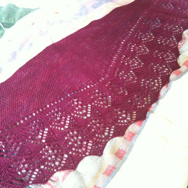 Nanny&#39;s Birthday Shawl