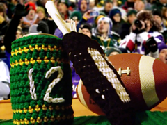 Ravelry: Football Party Set (Tablerunner, Silverware Caddy