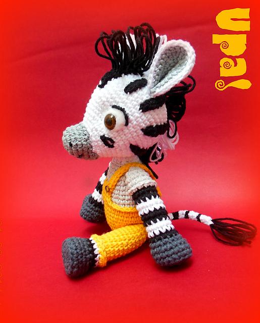 Amigurumi Zebra Patroon : Zou Zebra toy - Crochet Zebra and Poc Bird Pattern - PDF ...