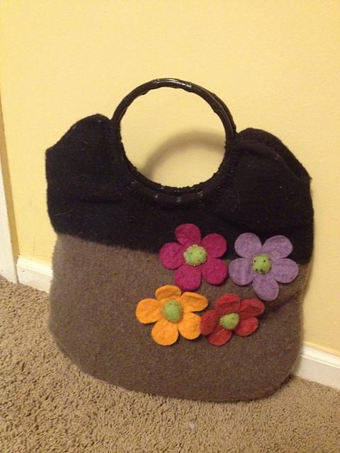 Подарок для девочки Овечка, сумка из фетра Новый год 2015