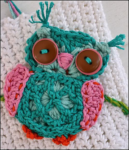 Little Nugget Crochet Patterns By Anji Beane Applique Crochet Owl