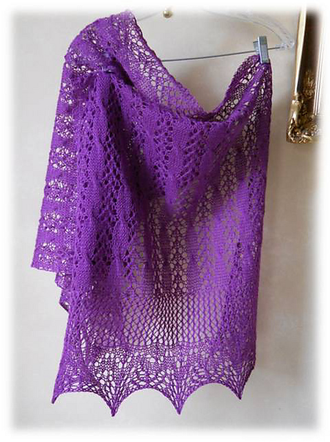 R网的长款 angustura shawl 说明 - 飞霜凝雪 - 飞舞指尖