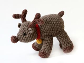 Free Crochet Reindeer Ornament Patterns : Ravelry: Amigurumi Reindeer pattern by Lion Brand Yarn