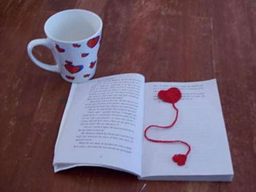 free bookmark crochet pattern thread heart valentines