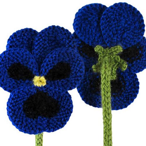 Free Knitted Flower Brooch Patterns : Blij dat ik brei: Viooltjes