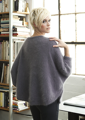 dolman sleeve, vogue knitting, angora wool