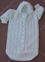 Ravelry: Cozy Baby Bunting pattern by Alice Hyche
