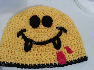Vampire_fanged_smiley_face_character_beanie_hat_crochet_pattern_small2