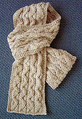 Open and Fold Cabled Scarf PDF